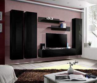 Dzīvojamās istabas mēbeļu komplekts ASM Fly C1 Black