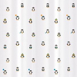Vannas istabas aizkars Tatkraft Funny Penguins, daudzkrāsains, 1800 mm x 1800 mm