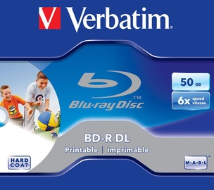 Verbatim BD-R DL Printable 6X 50GB Jewel Box