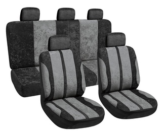 Autoserio Seat Cover Set AG-28602/4 8pcs Black/Gray