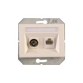 Antenos ir kompiuterio lizdas Vilma XP500, baltos spalvos