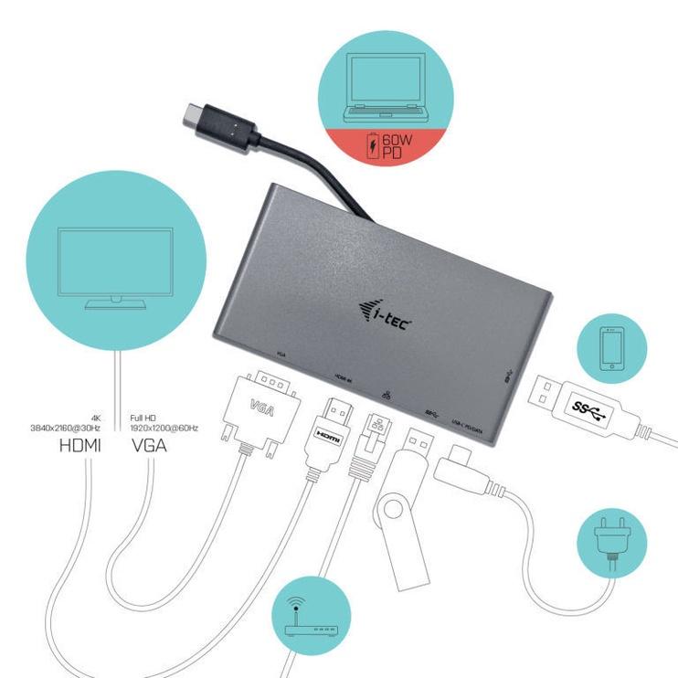 i-Tec USB-C 4K Travel Docking Station