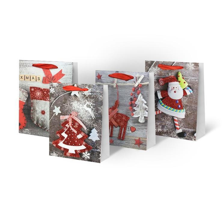 Christmas Gift Bag 26x10x32cm SCW221-ABCD-M