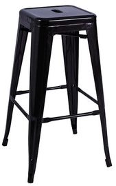 Signal Meble Hoker Long Bar Stool Black Matt