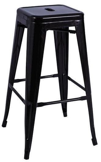 Baro kėdė Signal Meble Hoker Black Matt