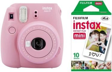 Fujifilm Instax Mini 9 Blush Rose + Instax Mini Glossy