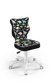 Детский стул Entelo Petit ST30 Dinosaurs, черный/многоцветный, 300 мм x 775 мм