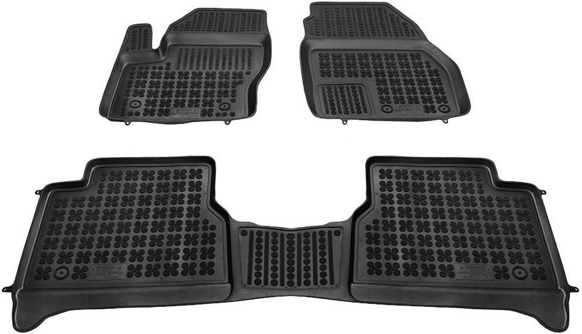 Резиновый автомобильный коврик REZAW-PLAST Ford Tourneo Connect II 2013, 3 шт.