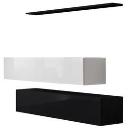 ASM Switch SB II Hanging Cabinet/Shelf Set Black/White