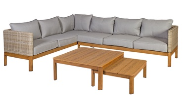 Home4you Captain Garden Furniture Set Grey/Teak