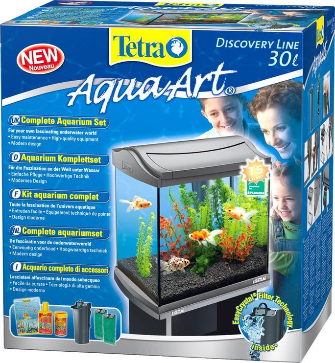 Akvariumas Tetra AquaArt, juodas, 30 l, su įranga