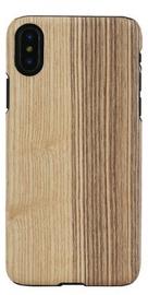 Man&Wood Modrian Wood Back Case For Apple iPhone X/XS Black/Brown