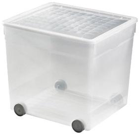 Curver Textile Box on Wheels 33l Transparent