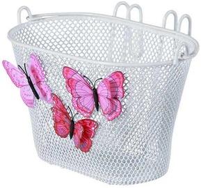 Basil Jasmine & Butterfly Junior Front Basket White