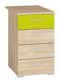 Kumode ML Meble Optimal 22 Sonoma Oak/Green