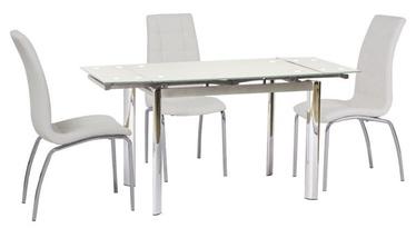 Pusdienu galds Signal Meble Modern GD-019, balta, 1500x700x760mm