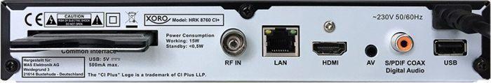 Xoro HRK 8760 CI Plus Receiver Black