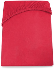 Palags DecoKing Amelia, sarkana, 100x200 cm, ar gumiju