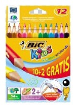 BIC Pencils Evolution Triangle 12pcs 887146