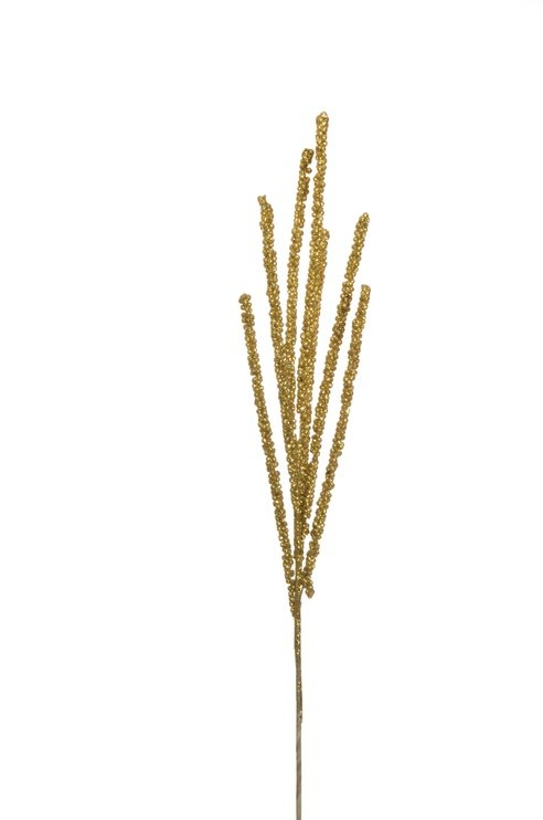 Искусственное растение GLITTERED WHEAT SPRAYX7 70CM
