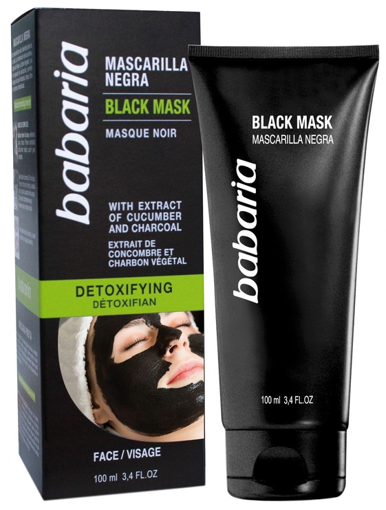 Babaria Cucumber and Charcoal Detoxifying Black Face Mask 100ml