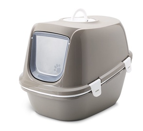 Savic Reina Sift Litter Tray w/ Hood And Sieve Insert Brown