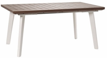 Dārza galds Keter Harmony Extendable, brūna/balta