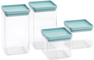 Brabantia Square Canister Set of 4 Mint