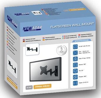 "Televizoriaus laikiklis Newstar FPMA-W832 Flat Screen Wall Mount 10-30"" Black"