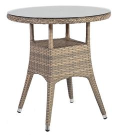 Садовый стол Home4you Larache 21200, серый, 70 x 70 x 72 см