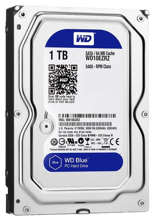 Western Digital Blue HDD 1TB 5400RPM SATA3 64MB WD10EZRZ