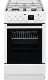 Газовая плита с электрической духовкой AEG CKB56471BW White