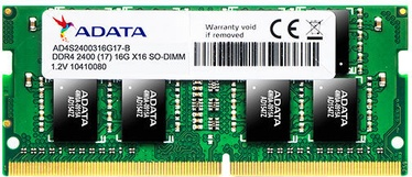 A-Data 16GB 2400MHz CL17 DDR4 SODIMM AD4S2400316G17-S