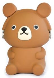 Кошелек p+g Design Mimi 3D Pochi Friends Bear, коричневый