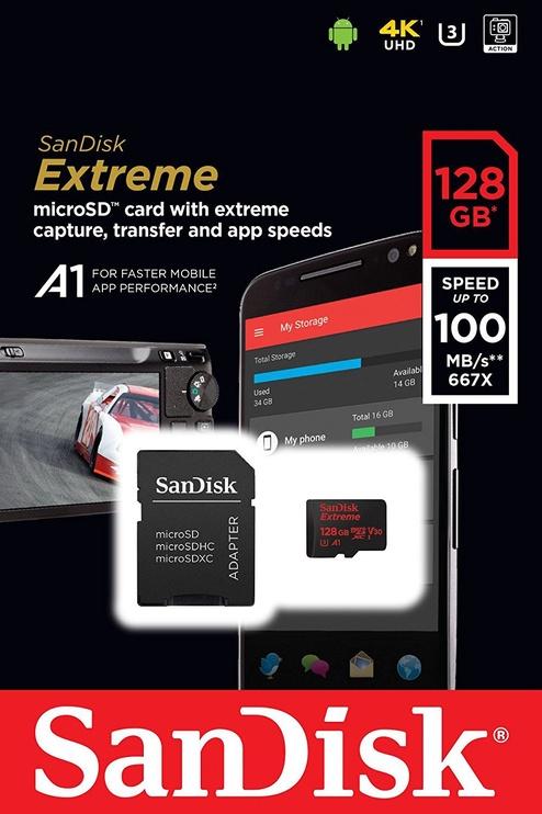 SanDisk Extreme 128GB microSDXC UHS-I U3 + Adapter