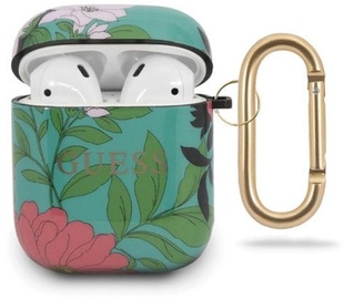 Guess Protection Case For Apple AirPods Green/Flowers