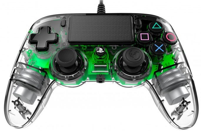 Nacon Compact Controller Wired Illuminated Green