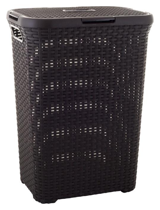 Skalbinių dėžė Curver Natural Style, su dangčiu ir rankena,  44,8 x 34,1 x 61,5 cm