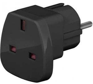 Techly Travel Adapter UK/EU Black