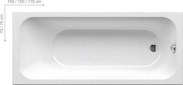 Ravak Chrome Bath White 160 x 70