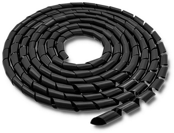 Qoltec Cable Organizer 10m 20mm Black