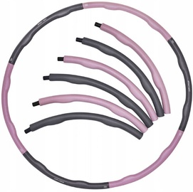 SportVida Hula Hoop Ring 100cm Grey/Purple