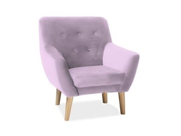 Signal Meble Nordic 1 Velvet Chair Antique Pink