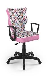 Детский стул Entelo Norm ST31, черный/розовый, 400x370x1010 мм