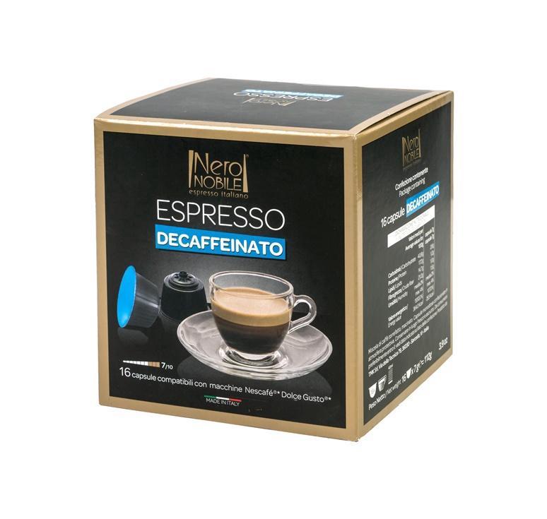 Kavos kapsulės Neronobile Decafeinated, 16 vnt.