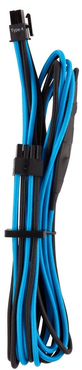 Premium Individually Sleeved EPS12V/ATX12V Cables Type 4 (Gen 4) Black/Blue