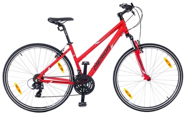 "Dviratis Merida Crossway 5-V Lady 50cm 28"" Red Black 18"