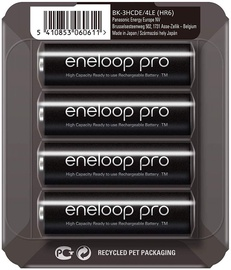 Panasonic Eneloop Pro HR6 AA x 4 BK-3HCDE/4LE 2500 mAh