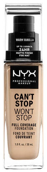 NYX Can't Stop Won't Stop Full Coverage Foundation 30ml Warm Vanilla