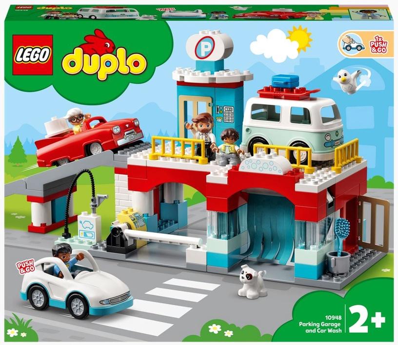 Конструктор LEGO Duplo Гараж и автомойка 10948, 112 шт.
